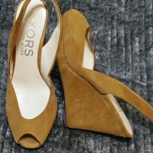 Michael Kors Nubuck Wedges